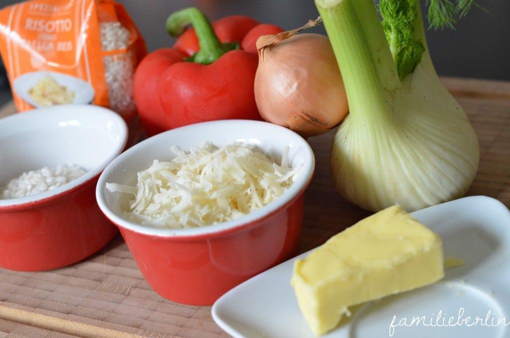 Zutaten, Risotto, Fenchel, Parmesan, Gemuese, babynahrung, Gemüse-Risotto