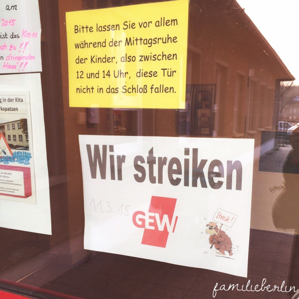 Streik, Kindergarten, Geschlossen, Gewerkschaft, Erzieher streiken