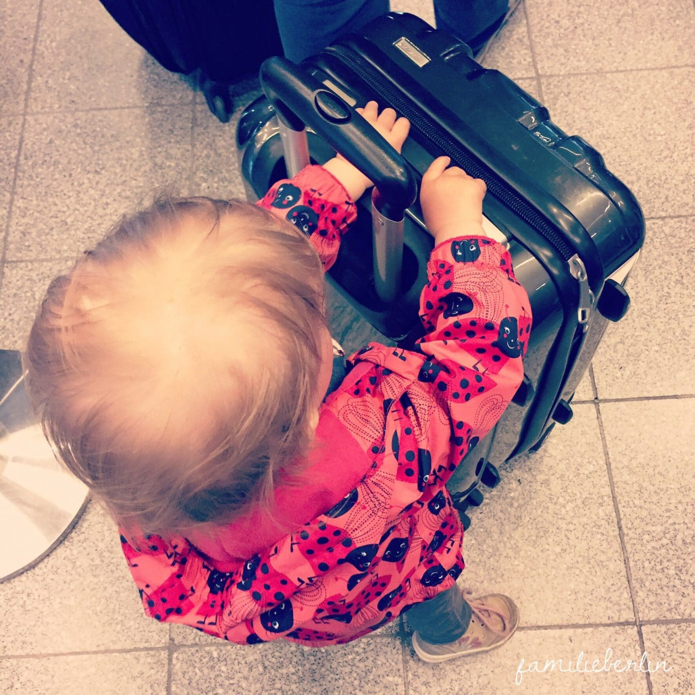 Koffer, Kleinkind, Reise, Flug