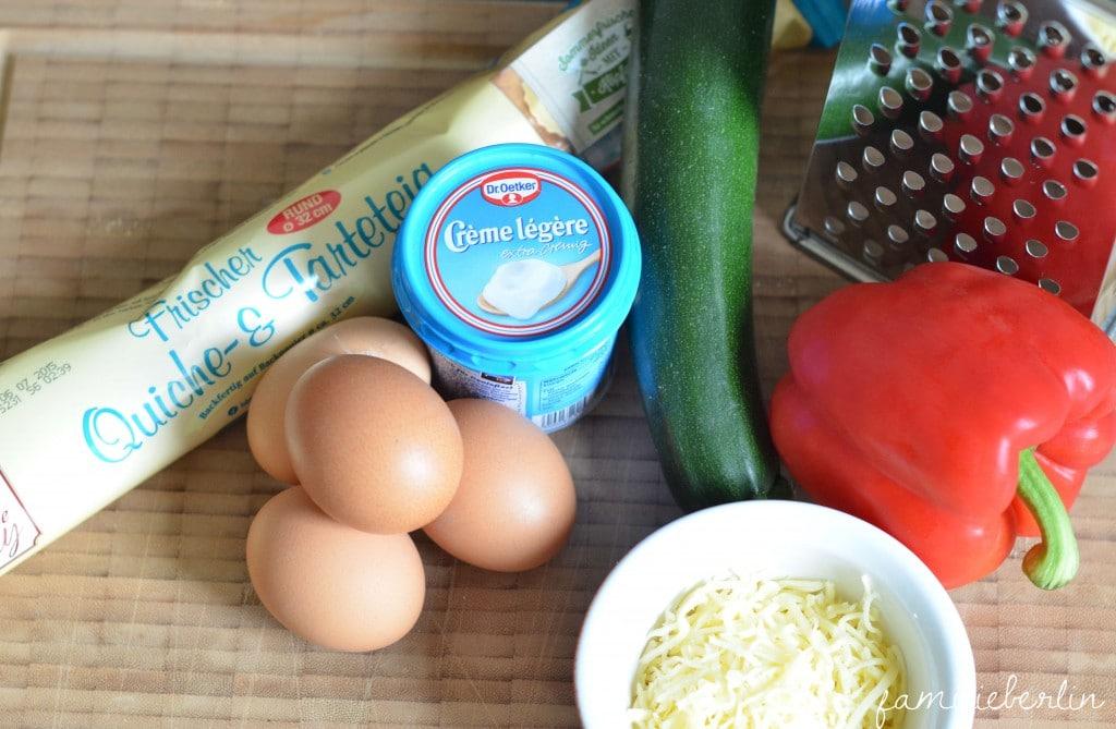 Quiche, Rezept, Abendessen, Brotzeit, Französisch kochen, Gemüse, BLW, Baby led Weaning