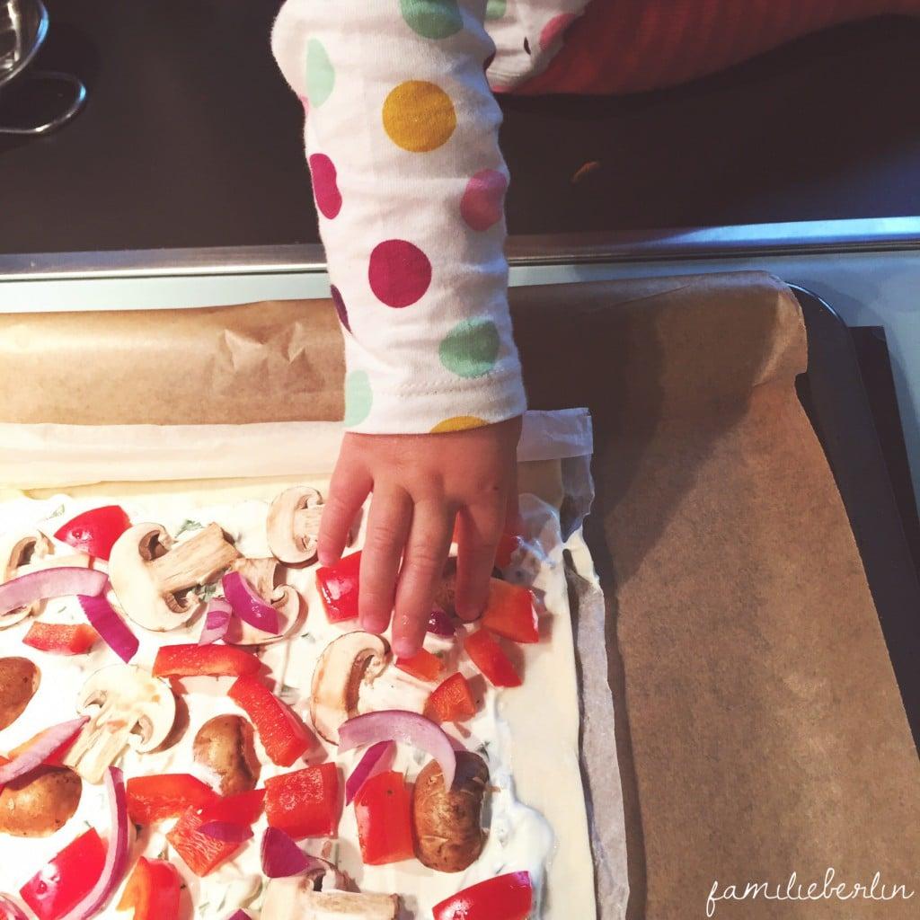 Pizza, Dieb, Wochenende in Bildern, Familienzeit, Kruemel, Kinderhand