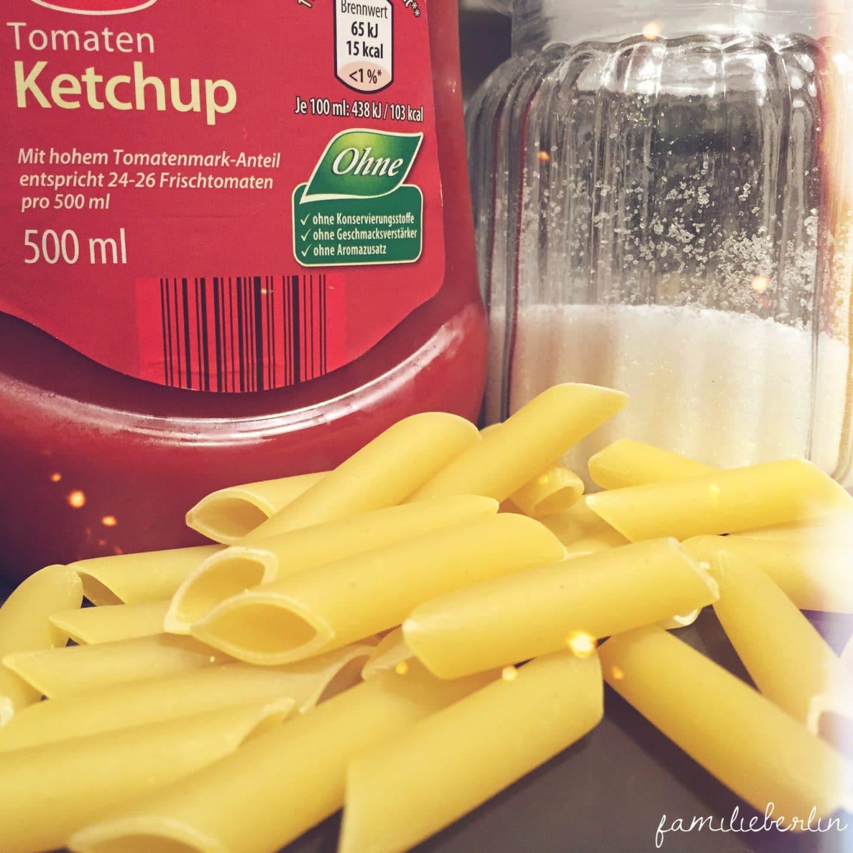 Soulfood Ketchup Pasta Zucker