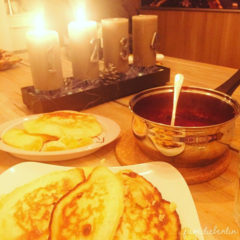Pancakes, Kerzen