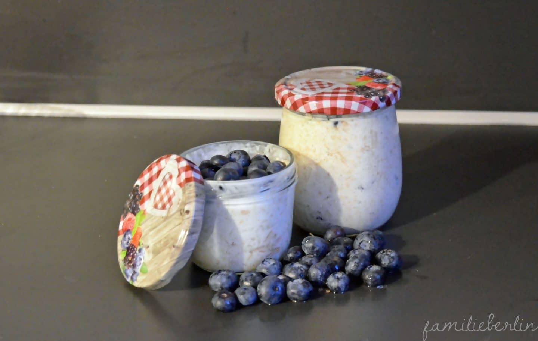 Rezept; Birchermuesli, Dessert, Dessert im Glas