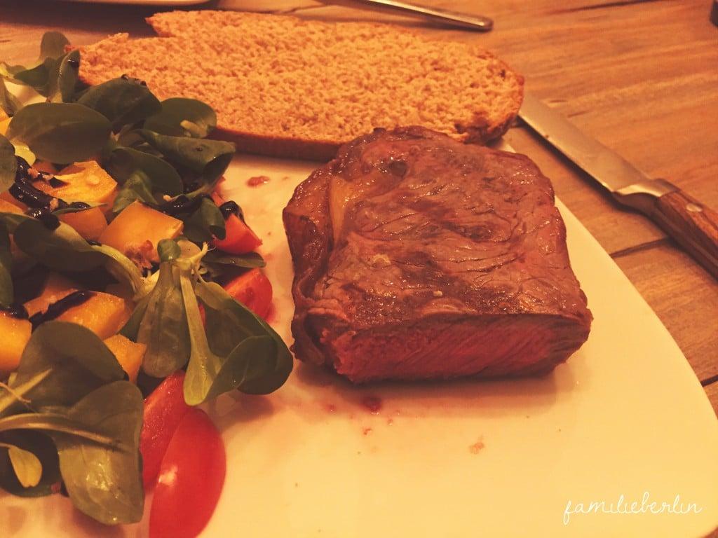 Brot, Steak, Essen, Salat, Abendessen