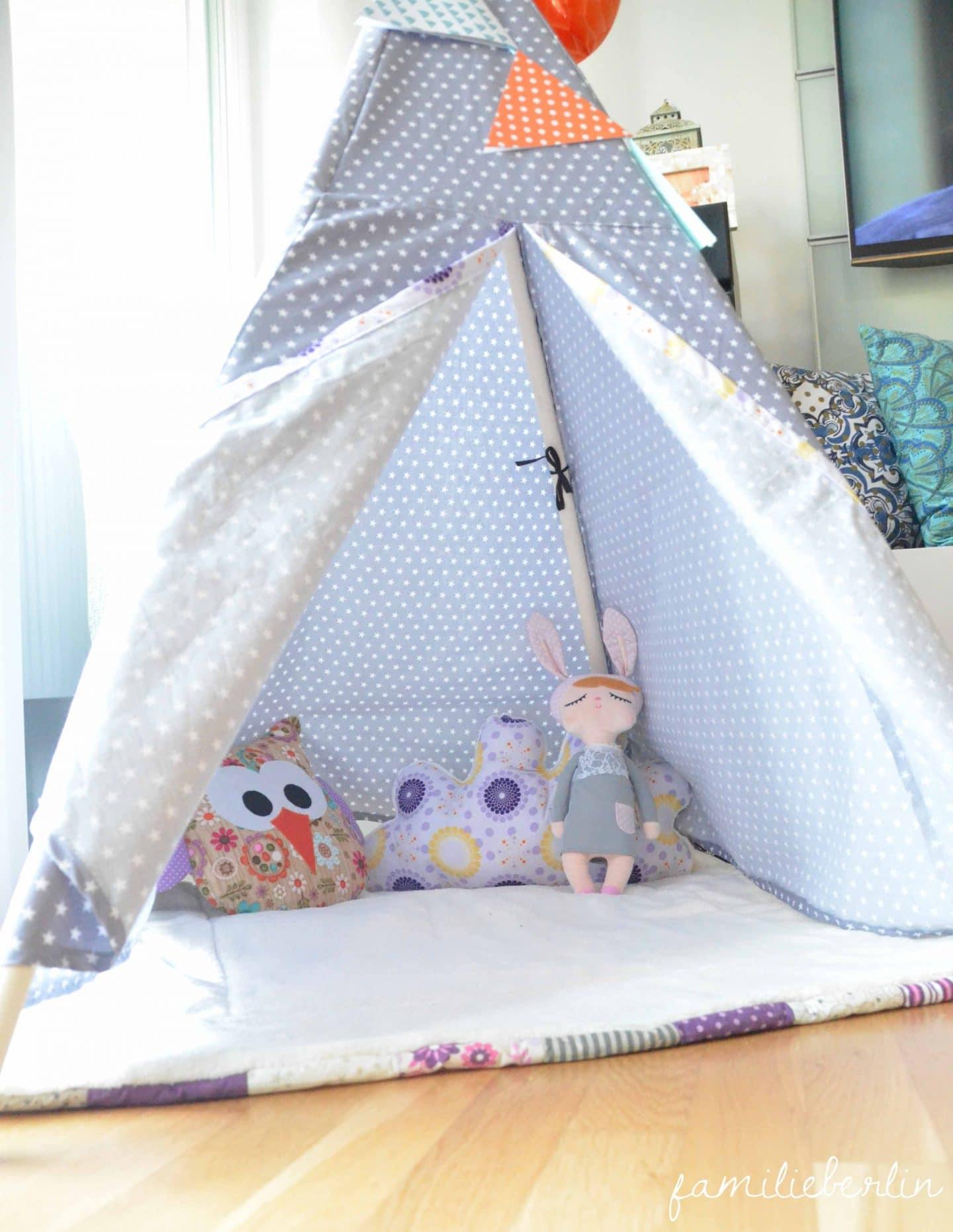 Ein Zelt für Kinder nähen + Verlosung   familieberlin