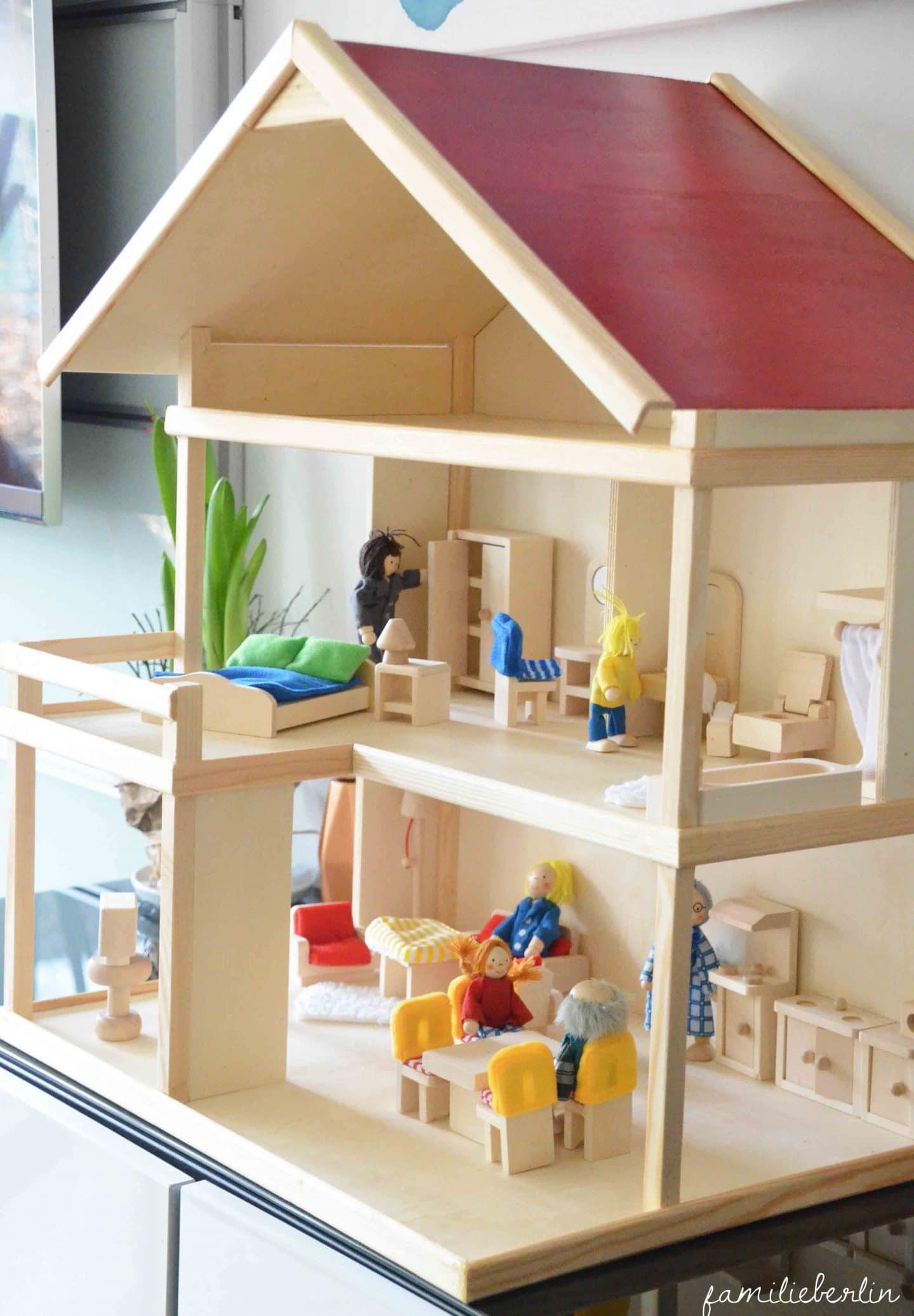 Spielzeug, DIY, Puppenhaus, Holzspielzeug, Ideen, Inspiration, Kleinkind, Rollenspiel