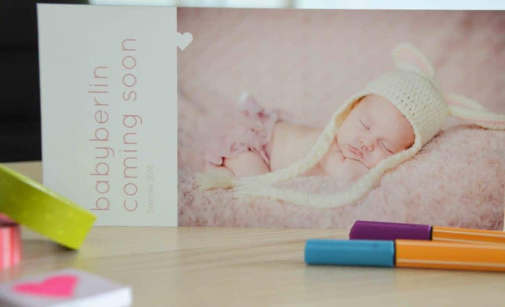 Karten zur Geburt, Geburtskarten, sendmoments, Frohe Botschaft, Post, Postkarten, Karten drucken, Baby, Geburt, Fotobuch Baby