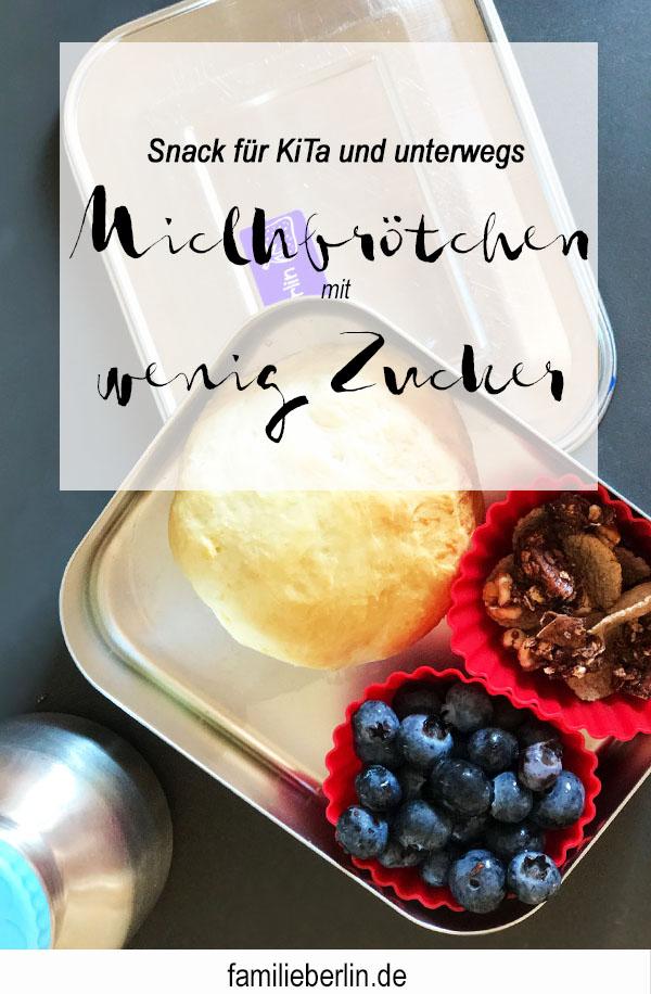 Milchbrötchen mit wenig Zucker, Backen, Rezept mit Hefe, Milchgebäck, Snack für Vesper, Kindergarten, Kinderkrippe, Essen mit Kindern