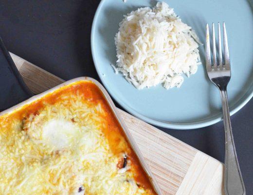 Aubergine-Mozzarella-Auflauf