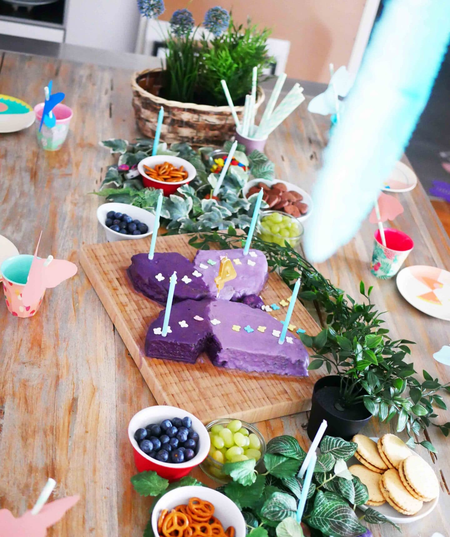 Schmetterlingsparty zum kindergeburtstag unser kuchen - Party deko berlin ...