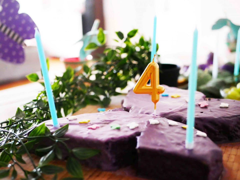 Schmetterlingsparty zum Kindergeburtstag: Unser Kuchen, unsere Deko