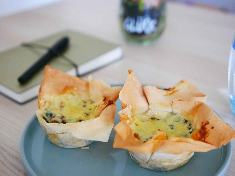 Mittagsideen im Homeoffice: Schnelle Gemüsetartes aus Yufkateig